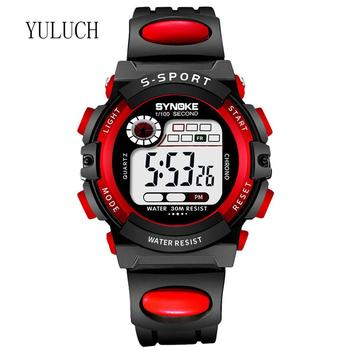 YULUCH Multifunctional Luminous Student Electronic Watch Waterproof Children's Sports Watch Repeater Week Display Watch