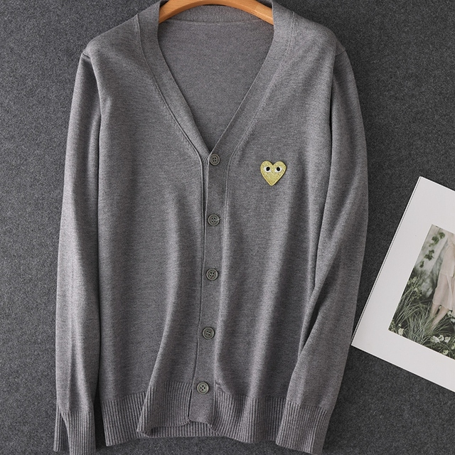 2020 Long Sleeve Lover Couple  Cashmere Cardigan loose  sweater Solid Women and Men Cashmere Sweater Knitting Cardigans 5