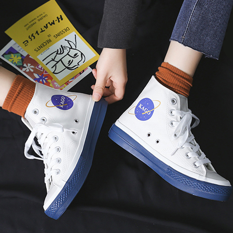 Sneakers Women Canvas Shoes 2020 Spring New Cartoon Casual Print Fashion Shoes Women Sneakers Comfortable Flats Sneakers Female
