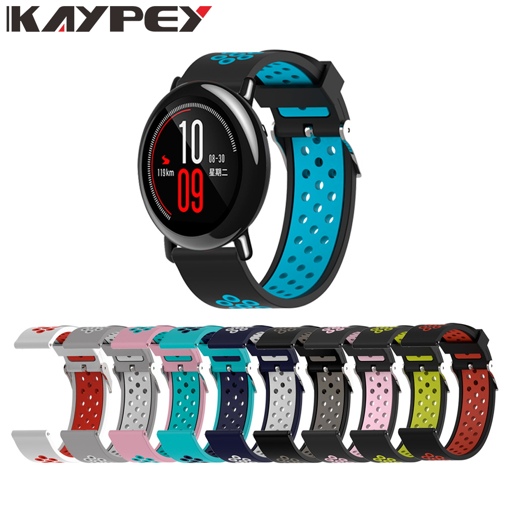 22mm Replacement Sport Silicone Watch Strap For Xiaomi Huami Amazfit Watch Pace Band Bracelet Wrist Band Watch Accessories