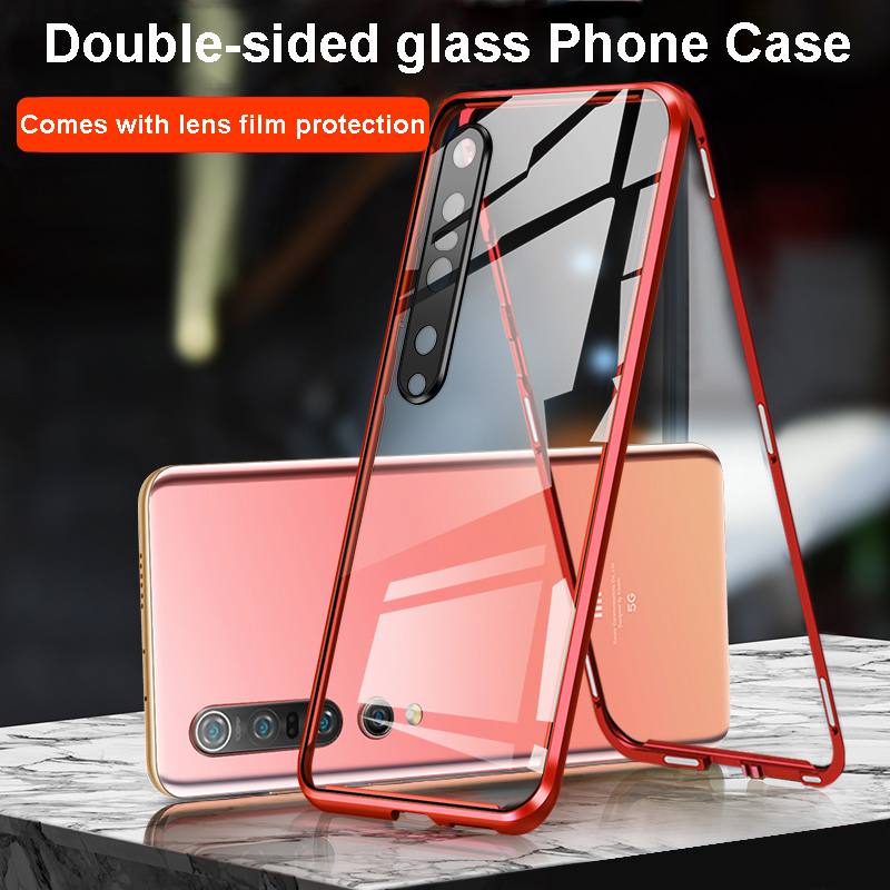 Magnetic Metal Adsorption Double Sided 9H Glass Case For Xiaomi 10 Pro For Xiaomi Redmi K30 K30 Pro Camera Protective Phone Case 1