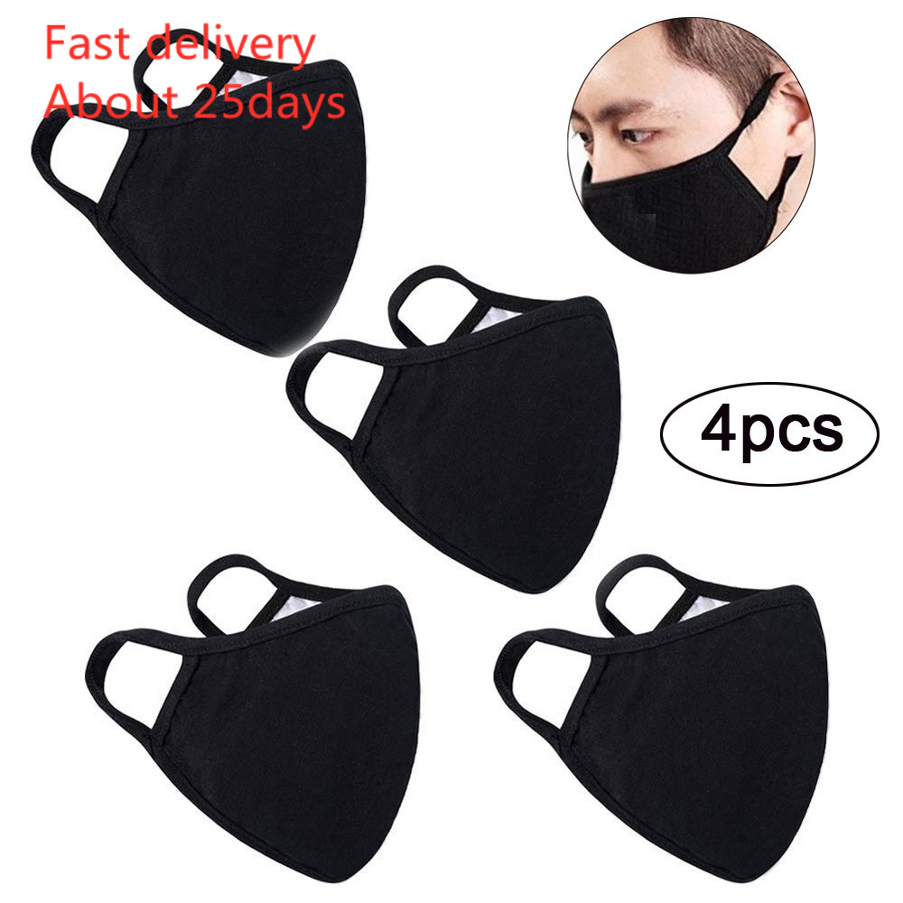 Mask Mascara 4pc Anti-dust Reusable Cotton Mouth Face Masks Mouth Cover For Man And Woman Masks