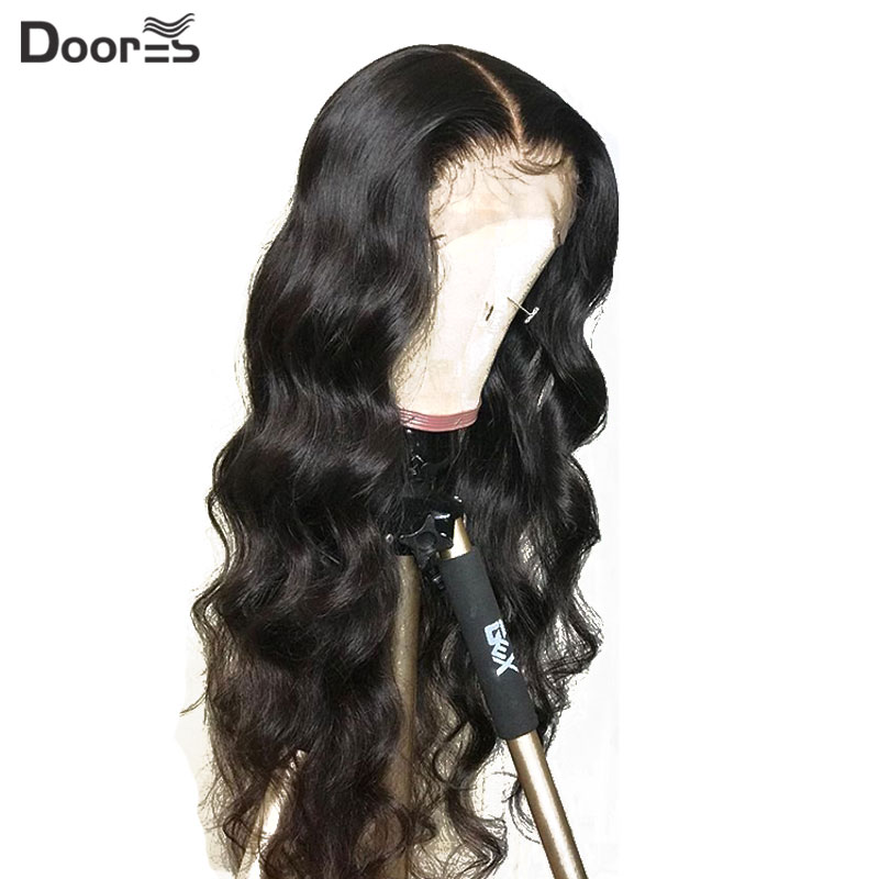 Doores 13x6 Body Wave Lace Front Wig 180 Density Malaysian Remy Human Hair Wigs For Black Women Preplucked Fake Scalp Lace Wigs