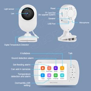 Image 5 - 4,3 zoll Video Baby Monitor mit Kamera Zwei weg Audio Nanny Baby Sicherheit Kamera Babyphone Nachtsicht Temperatur Erkennung