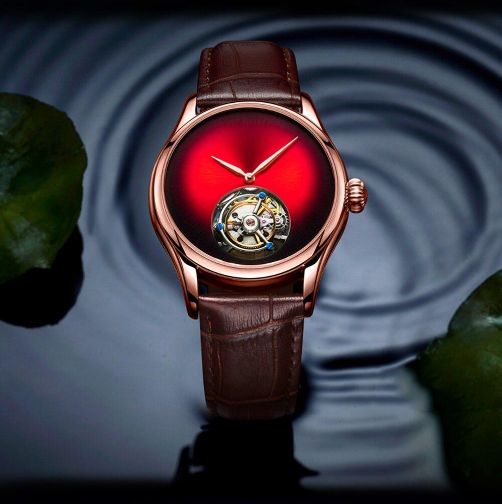 Guanqin tourbillon relógios masculinos 2019 relógio mecânico