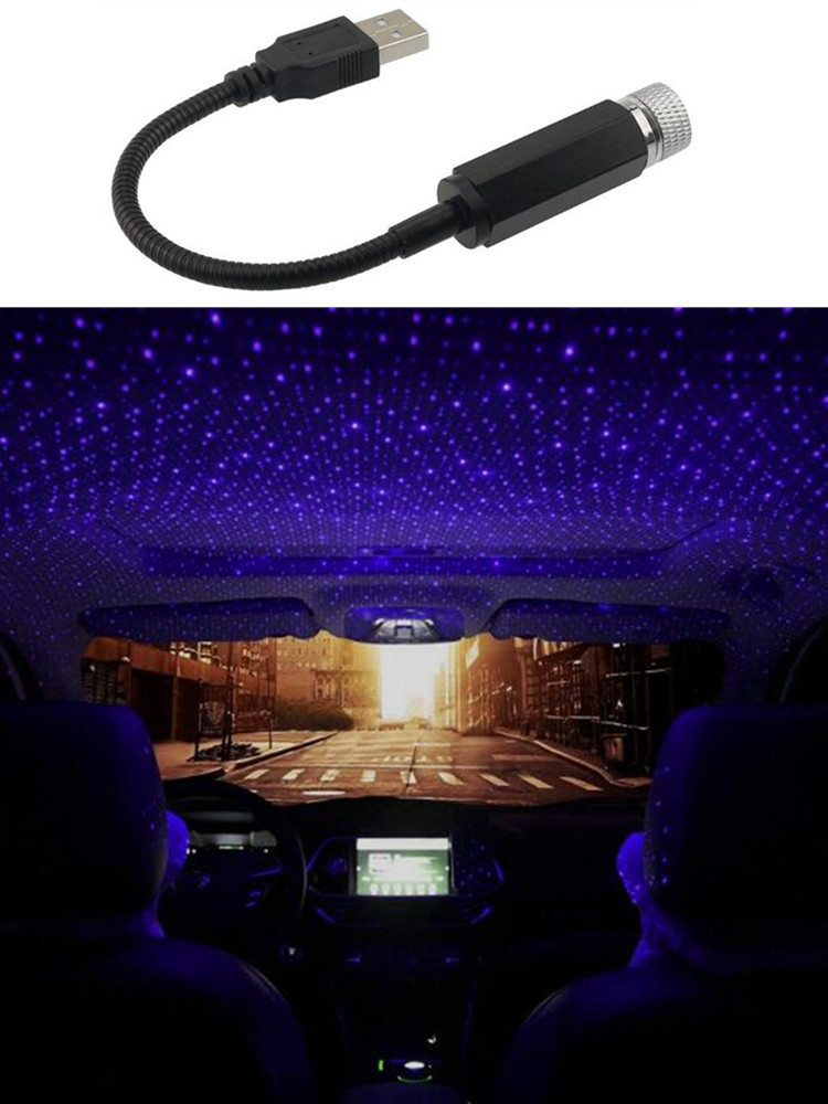 USB Decorative Lamp LED Car Roof Star Night Light Projector for BMW 1 2 3 4 5 6 7 Series