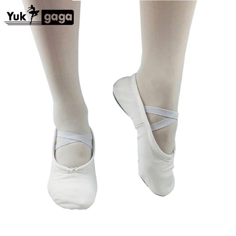 Pantoufles de Ballet classiques pour filles, chaussures de danse en toile à semelle fendue, gymnastique pour bébé, chaussures de Yoga pour enfants, ballerines pour femmes, A02d2 6