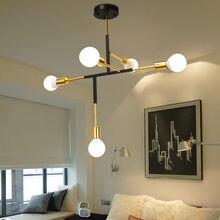 Nordic ouro lustres de luz teto interior sala estar decoracion hogar moderno lustre iluminação e27 5 lâmpadas avizeler