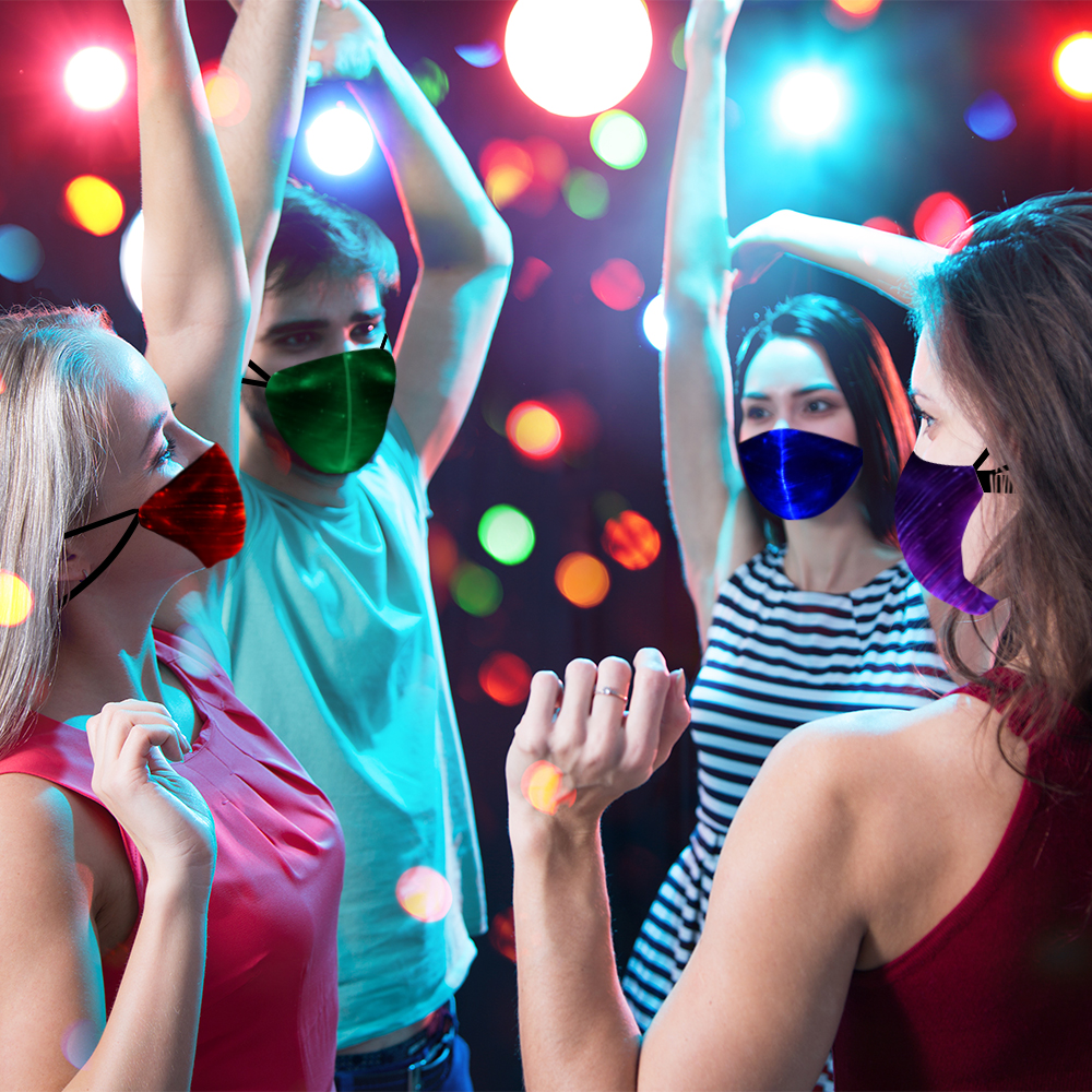 Halloween Flashing Party Mask Carnival Masquerade Bar LED DJ Mask Masquerade Cosplay Costume Masks For Christmas Halloween Party in Party Masks from Home Garden