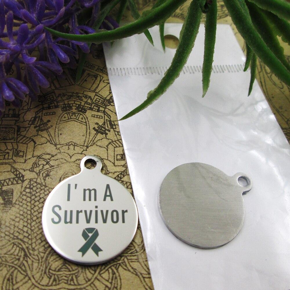 Survivor Charm Pewter