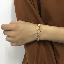B1198 European and American simple chain bracelet female personality advanced sense of love element hand decoration punk hip hop