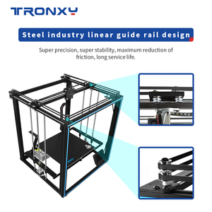 Image 4 - Tronxy X5SA برو محرك هادئ طابعة ثلاثية الأبعاد OSG مزدوجة المحور دليل خارجي السكك الحديدية سطح المكتب لتقوم بها بنفسك أطقم تيتان الطارد الطباعة خيوط تي بي يو