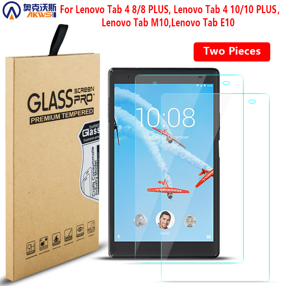 Tempered Glass For Lenovo TAB 4 10 Plus Screen Protector Film For Lenovo TAB4 4 8 Plus Tablet Glass For M10 E10 2019 Tablet