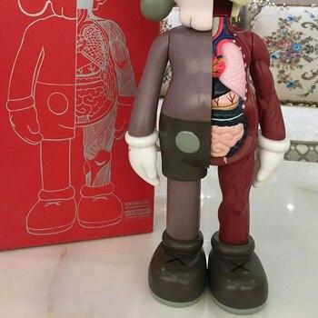 20cm Original Fake Dissection Anime Figure BearBrick PVC Dolls Action Figures Blocks Bears Collectible Models Toys Decoration недорого