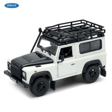WELLY 1:24 Land Rover Defender sports car simulation alloy model crafts decoration collection toy tools gift