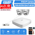 Dahua 4MP 4 + 2/4 система безопасности 6MP ip-камера IPC-HDW4631C-A 8CH POE NVR4104-P-4KS2 система видеонаблюдения P2P