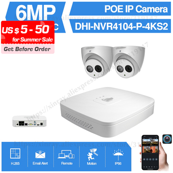 Dahua 4MP 4+2/4 Security Camera System 6MP IP Camera IPC-HDW4631C-A 8CH POE NVR4104-P-4KS2 Surveillance P2P System Remote View dahua 4mp 8 4 security camera system 4mp ip camera ipc hdw4433c a 8ch poe nvr4108 8p 4ks2 surveillance p2p system remote view
