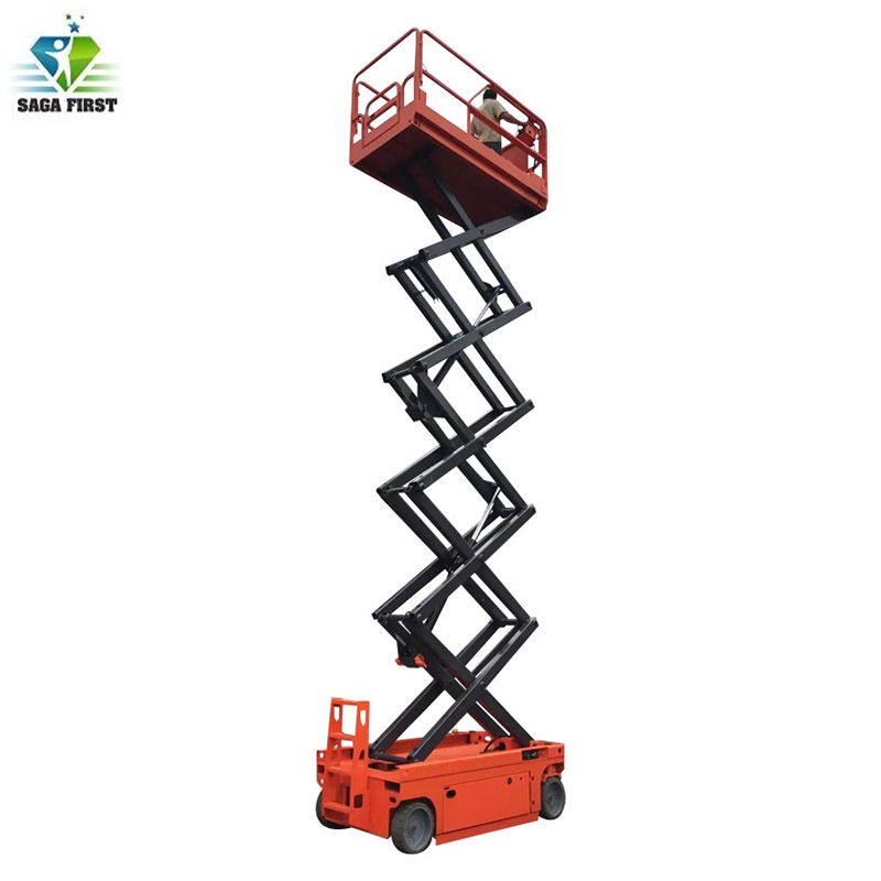 6m-12m Self Propelled Hydraulic Mobile Scissor Lift With CE ISO
