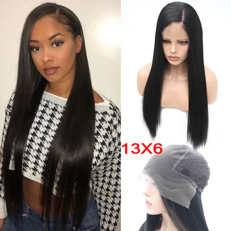 Charisma Black Wigs For Women 13X6 Deep Part Synthetic Lace Front Wig Heat Resistant Fiber Hair Lace Wigs Side Part Daily Wigs