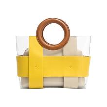 Transparent Jelly Handbags Fashion Bags For Women 2019 Luxury Designer Splice Crossbody Shoulder Girl