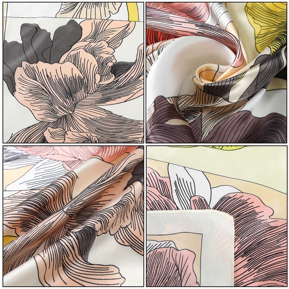 Stampe di Seta Della Banda Della Sciarpa Dei Capelli Scrunchies Collo del Nodo Dell'arco Ponytail Holder Fasce per Capelli Tie Ribbon Fasce Coda di Cavallo Accessori Per Capelli