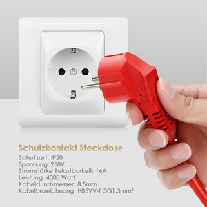 Image 3 - Power Strip Extension Cord 5/10/20m Cable EU Sockets Electrical Plug Outlets 4000w Electric Schuko Indoor Ourdoor for Workers