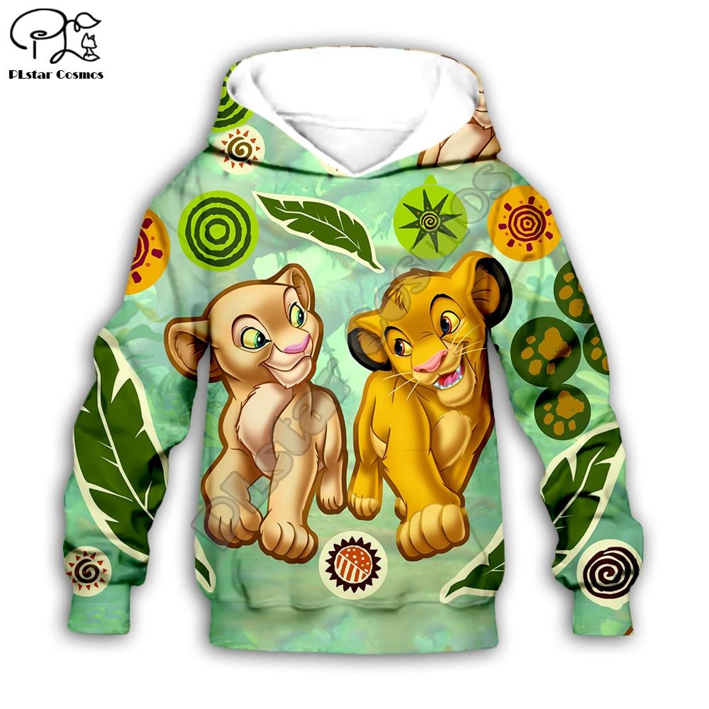 Kid Children Set The Lion King 3D Print Hoodies Sweatshirts Cartoon Simba Nala Tshirt Pants Baby Boy Girl HAKUNA MATATA Coat