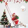 Рождественский Санта-Клаус Электрический подвесная лестница украшения для рождественской елки забавные новогодние подарки для детей Деко...
