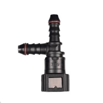 Typu K 7 89mm-5 16 #8222 wąż paliwowy szybkie złącze do wąż gumowy paliwa system zasilania tanie i dobre opinie AlwayTec Zbiorniki paliwa Fuel hose quick connector 4 5cm 1995-2015 Iso9001 3 5cm PA12 3way (90 degree+ 180 degree) 7 89mm-5 16 or 8mm