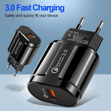 3A Quick Charge 1 USB Port Charger For iPhone Samsung Xiaom Huawei Universal Mobile Phone EU US Plug Adapter QC3.0 Fast Charging quick charge 3 0 usb charger travel for iphone samsung micro usb type c fast charging 3 ports eu us plug mobile phone charge