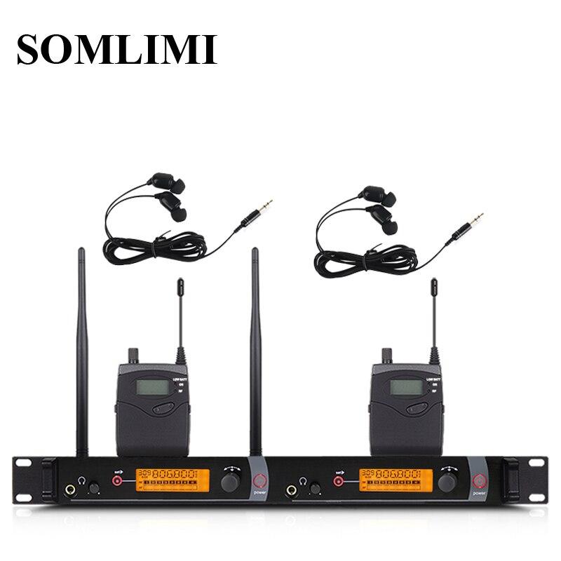 SOM SR2050 профессиональный монитор для ушей, беспроводная система, 2 канала, 2 боди, сценическая производительность, аудио, DJ