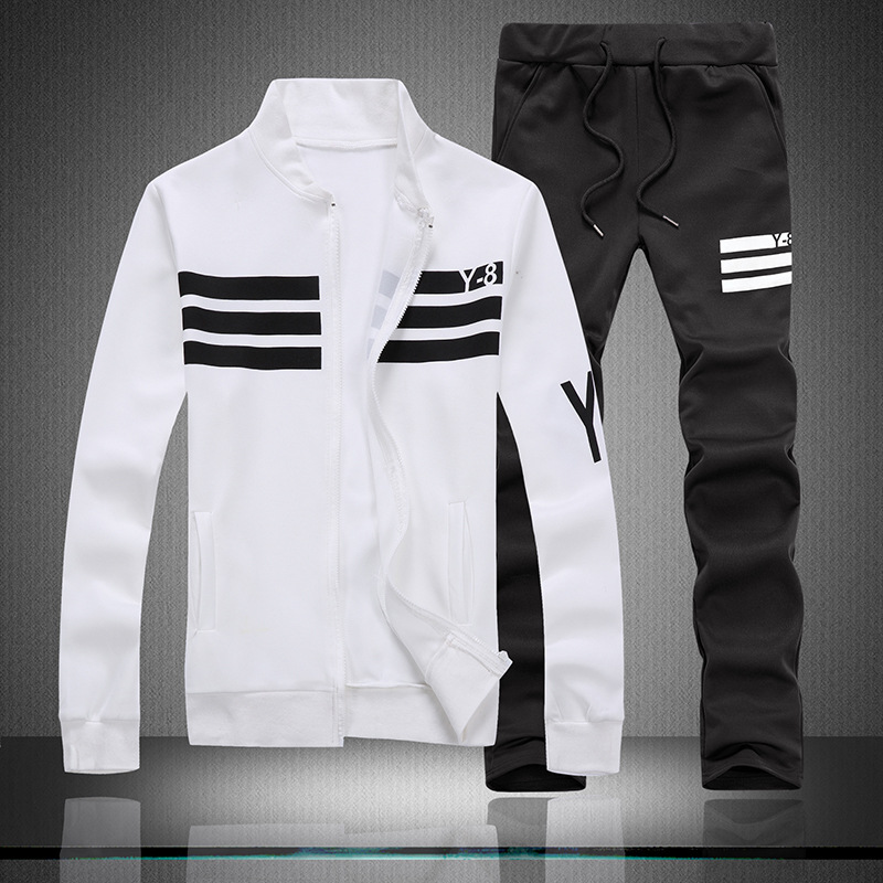 AliExpress Leisure Suit Men's Autumn Long-sleeve Sportswear Set Men's Athletic Clothing Sportswear MEN'S Suit