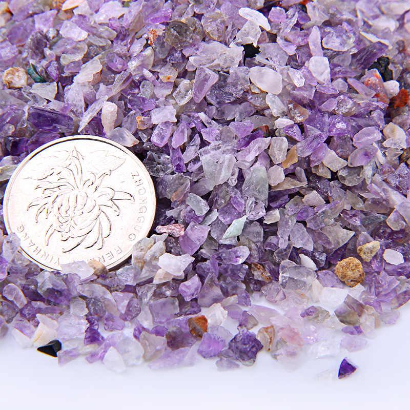 50G Paars Natuurlijke Amethist Quartz Poeder Kristal Grind Rock Ruwe Edelsteen Minerale Aquarium Bonsai Decoratie Energie Steen