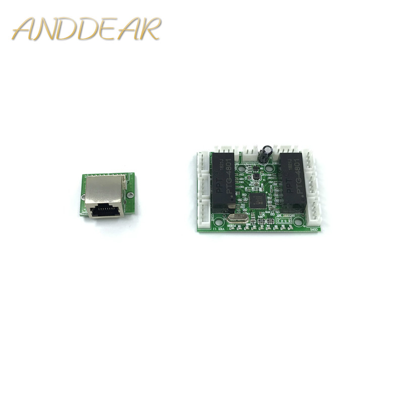 Mini Module Design Ethernet Switch Circuit Board For Ethernet Switch Module 10/100mbps 8 Port PCBA Board OEM Motherboard