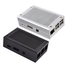 For Raspberry Pi 4 model B Universal aluminum case with free fan Case Model Official Shell