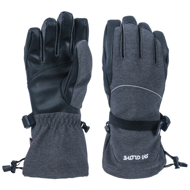 Ski Gloves Windproof Waterproof Contact Screen Gloves Winter Sports Gloves Men Women L