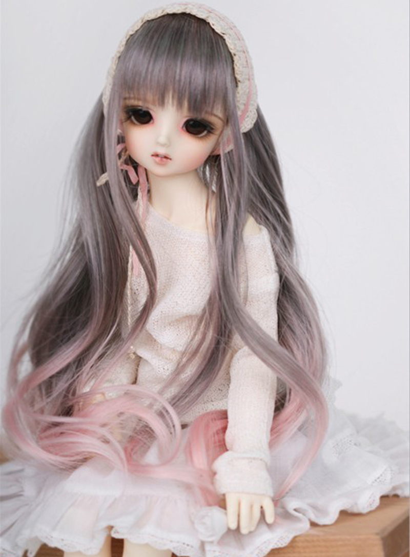 2020 Newest 1/3 1/4 1/6 1/8 Bjd Wig High Temperature Long Fashion Wavy Wire Bjd Wig SD For BJD Doll