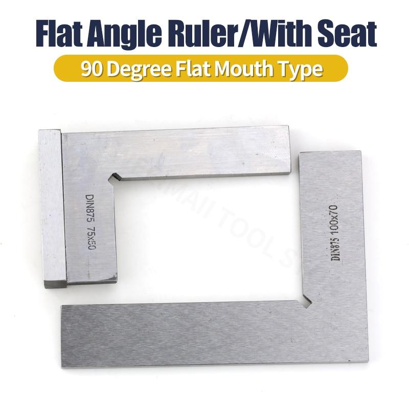 Tente quadrado de 90 graus ângulo plano régua em forma de l conjunto de régua de ângulo de esquadrão com assento ferramenta de medição e desenho 50x40 75x50