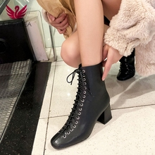 Women Ankle Boots Genuine Leather 22-25.5 Cm Feet Length Cowhide + Cow Suede Retro Modern Martin for