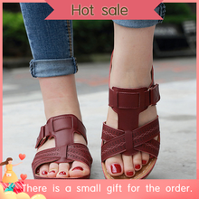 Женские ортопедические сандалии премиум класса с открытым носком; винтажные Нескользящие дышащие летние сандалии(бесплатный подарок