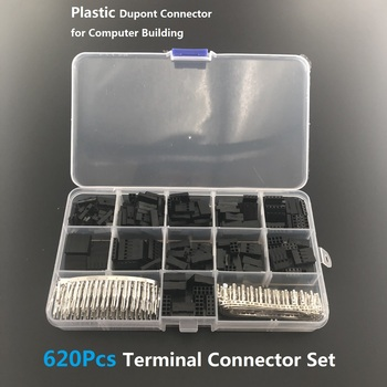 620Pcs 2.54mm Pitch JST SM 1 2 3 4 5 6 Pin Housing Connector Dupont Male Female Crimp Pins Adaptor Assortment Kit цена 2017