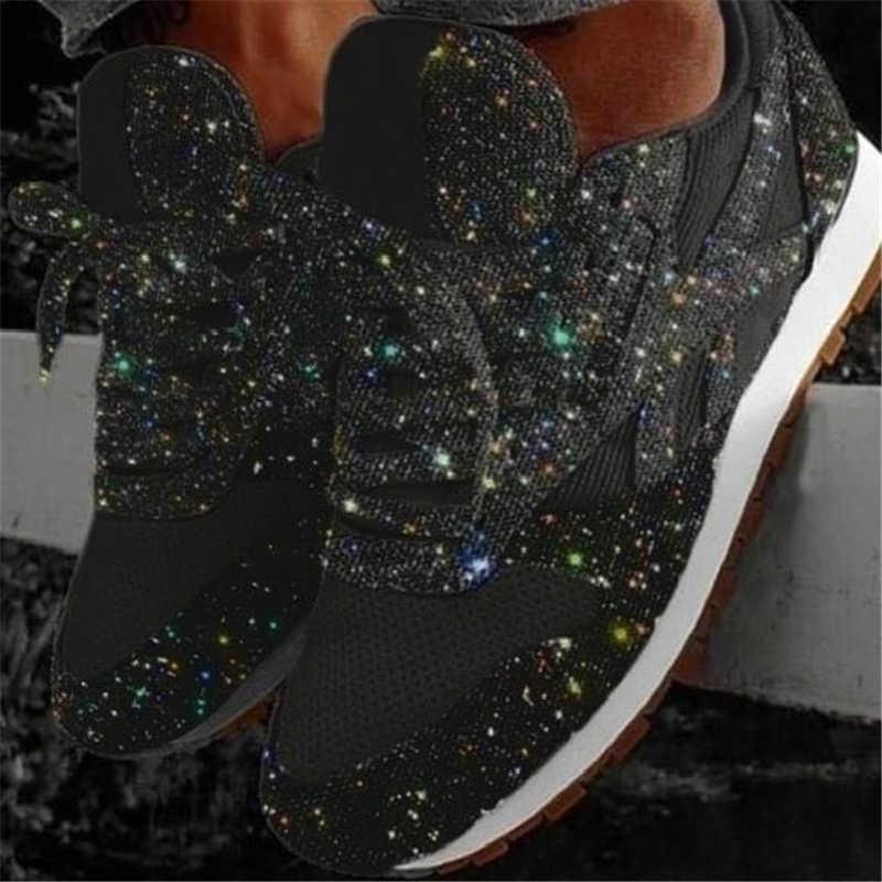 Frauen Turnschuhe Bling Keile Dicke Sohle Höhe Zunehmende Chunky Plattform Vulkanisierte Damen Loafers Gummi Schuhe Zapatos De Mujer