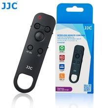 Jjc controlador de controle remoto sem fio para sony a9 ii a7 iii a7r iii a7r iv a6100 a6600 DSC-RX100 vii substituir RMT-P1BT comandante
