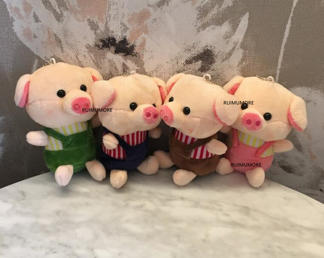 Multi-Designs, New Pigs Little Key Chain Plush Toys , NEW Baby Toys , Children's Gift 4-15CM Approx. Plush Stuffed PIG Dolls