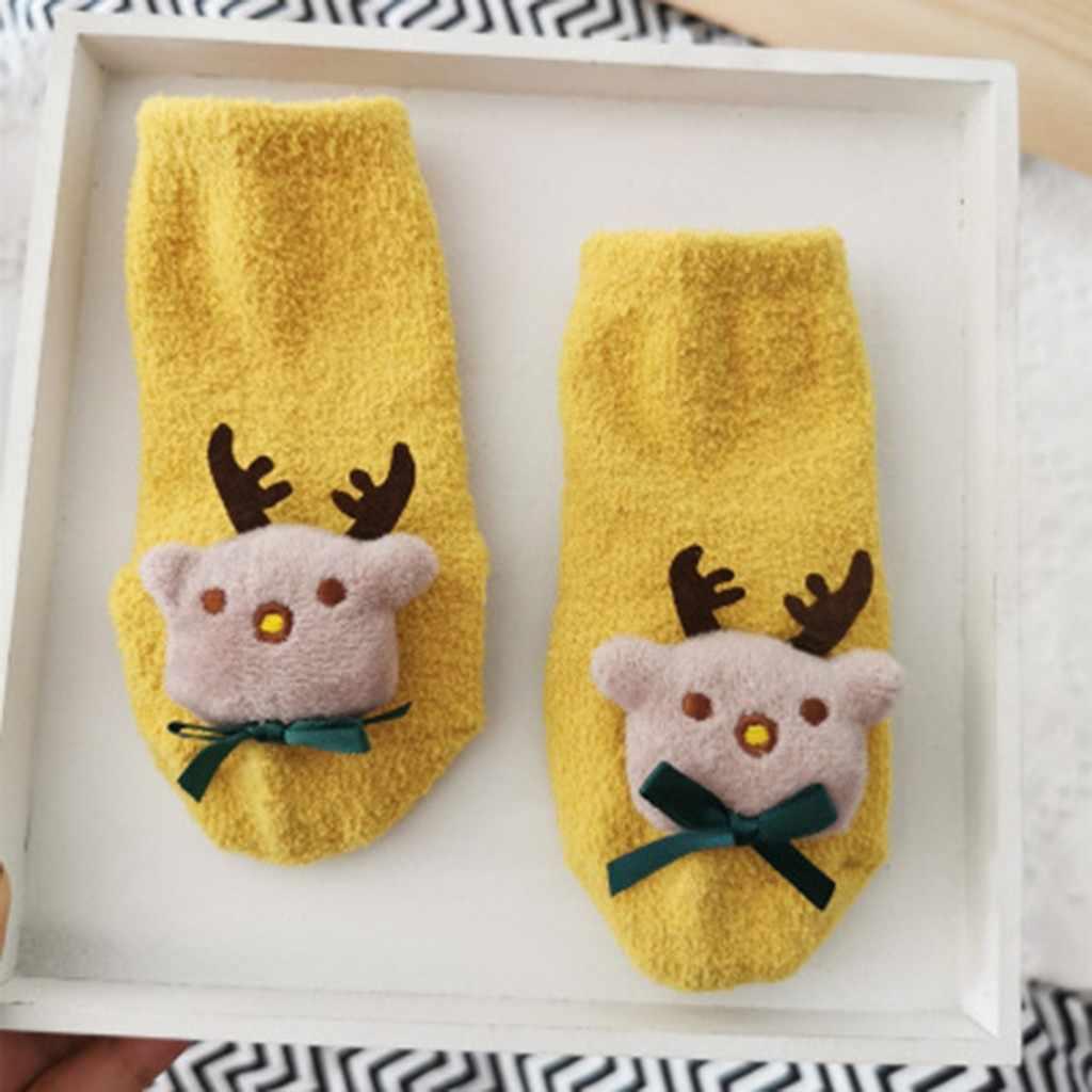 sweet Cotton Spring Winter Autumn Baby Girls Boys Kids Socks Children Striped Snowflake Santa Claus Christmas Bear Socks