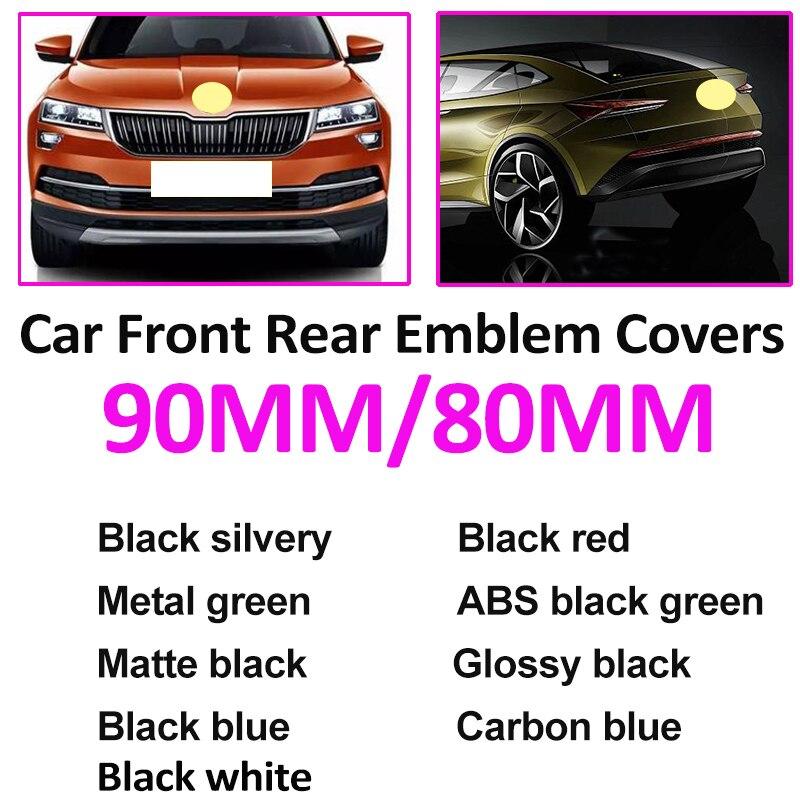 Автомобильный аксессуар, 2 контакта, 3 контакта, 90 мм, 80 мм, передняя эмблема, наклейка на багажник, 9 см, 8 см, 9 цветов, для Octavida Bora Jetta