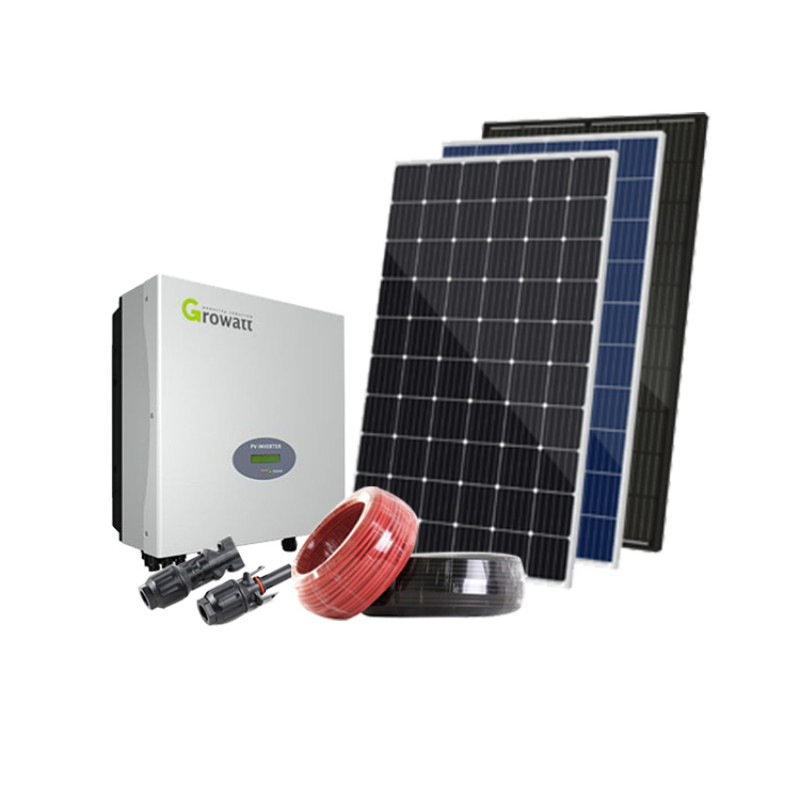 5kw residencial kit de energia solar 5000w painel solar sistema casa solar kit