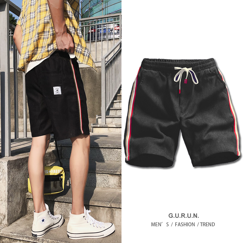 Fashion Shorts Men Casual Side Striped Short Joggers Streetwear Elastic Waist White Black Track Short Male Summer Bottoms 4XL5XL