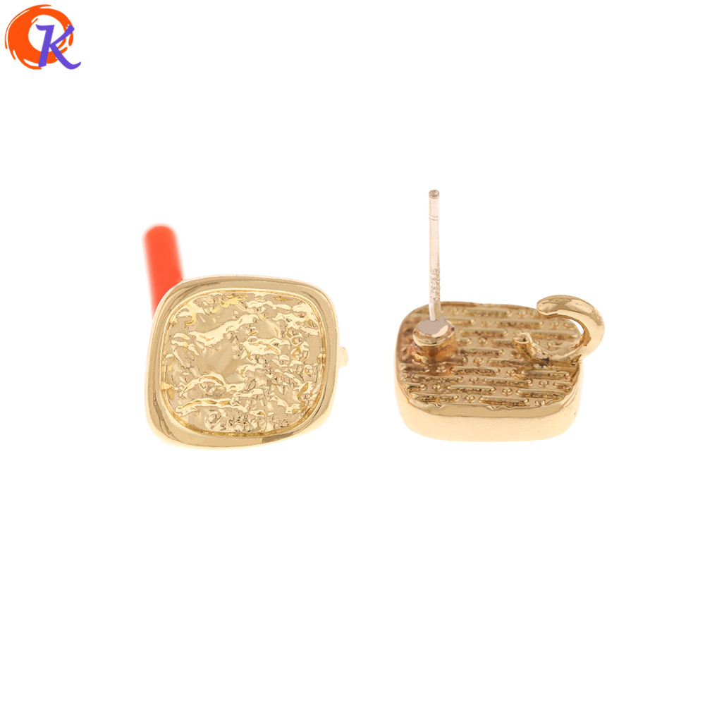 Cordial Design 100Pcs 11*12MM Jewelry Accessories/Earrings Stud/Geometry Shape/DIY Jewelry Making/Hand Made/Earring Findings