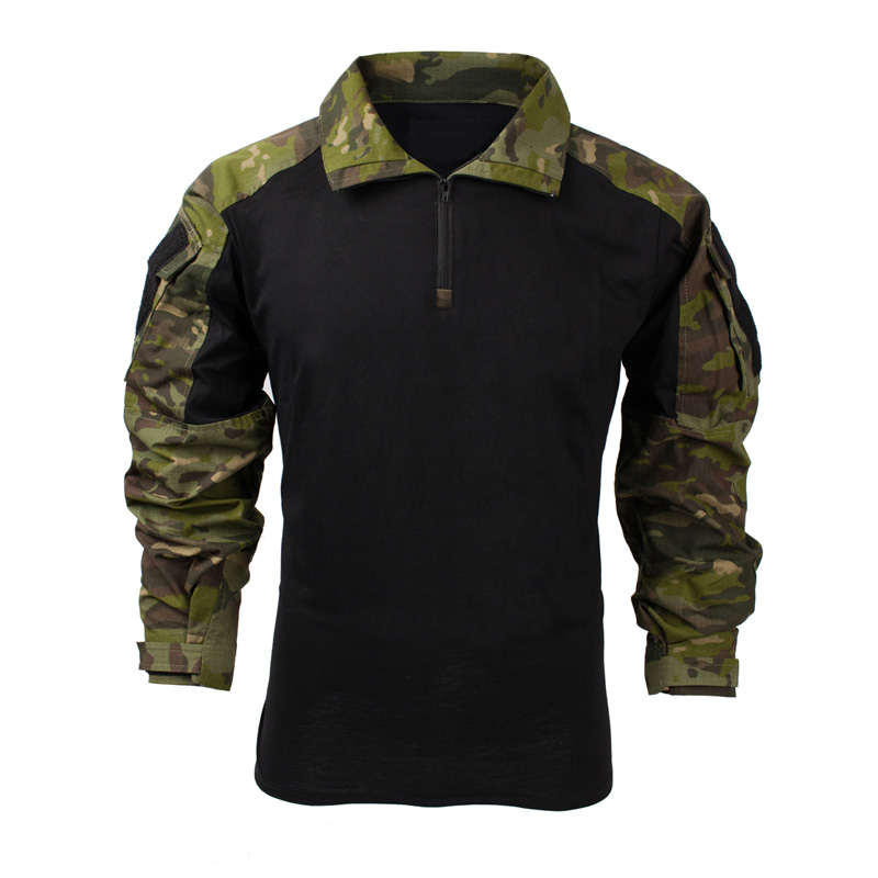 2019 New MTP Zip  Long Sleeve Combat Frog Shirt Black MTP Patch Multicam Tropic Tactical Rapid Shirt  MTP Combat Shirt